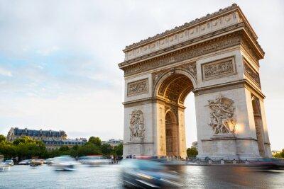 Sticker Arc de Triomphe in Paris am Nachmittag