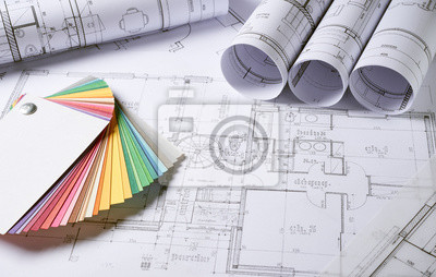 Sticker Architektur Plänen