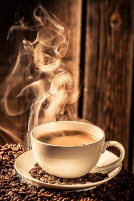 Sticker Aroma Kaffeetasse mit gerösteten Kernen