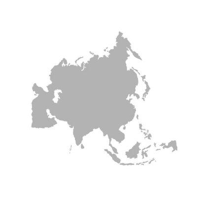 Sticker Asia outline world map - Vector