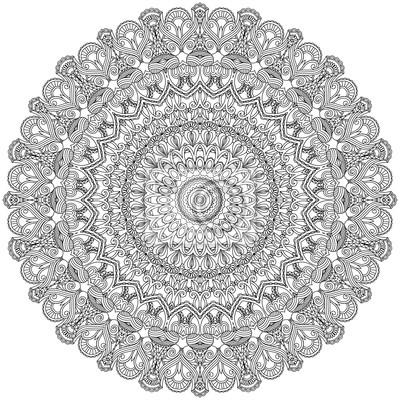 Asian ornamental Spitze. Dekorative Mandala