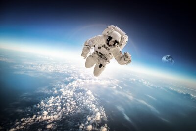 Sticker Astronaut im Weltraum