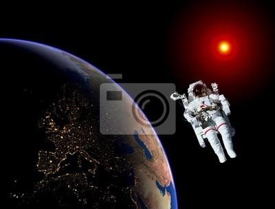 Astronaut Spaceman Erde Sun