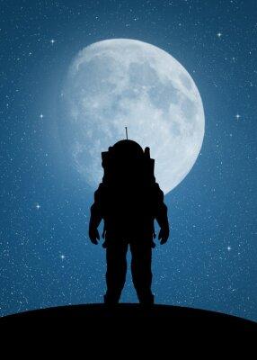 Sticker Astronaut zum Mars
