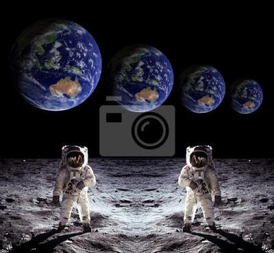 Astronauten Raumfahrer-Mond Erde