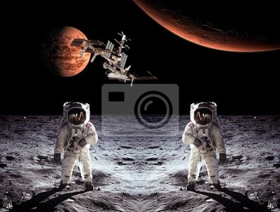 Astronauten Raumfahrer-Mond-Planeten