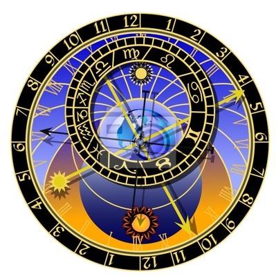 astronomische Uhr - Vektor
