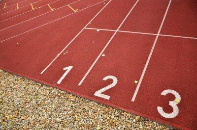 Athletic Track für Joggen, Laufen, Sprint, Fitness oder Übungen mit Zahlen auf Stern tline
