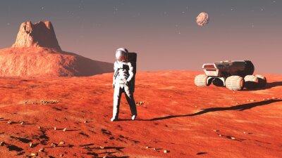 Sticker auf dem Mars