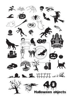 Auf fotobeschreibung: Halloween-Gegenstände