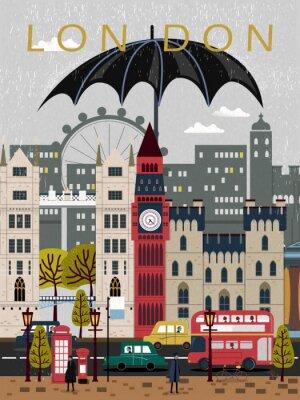 Sticker Aufregendes Vereinigtes Königreich-Reiseplakat
