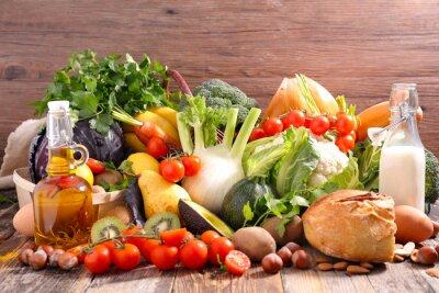 Sticker Ausgewogene Ernährung Essen Konzept