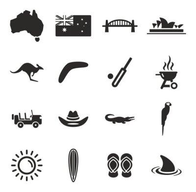 Sticker Australien Icons