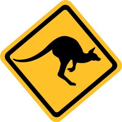 Sticker Australien-Känguruzeichen