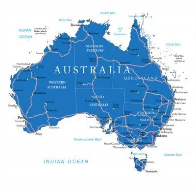 Sticker Australien-Karte