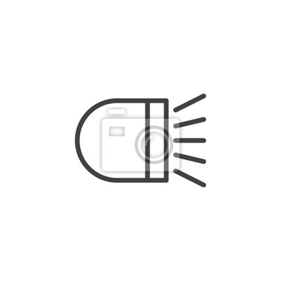 Auto licht liniensymbol, umriss vektor zeichen, linearen stil ...