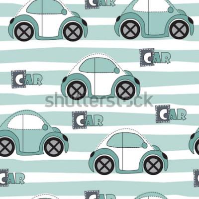 Sticker Auto Muster Vektor-Illustration