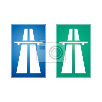 Autobahn Verkehrszeichen