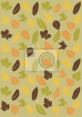Autumn leaves Hintergrund.