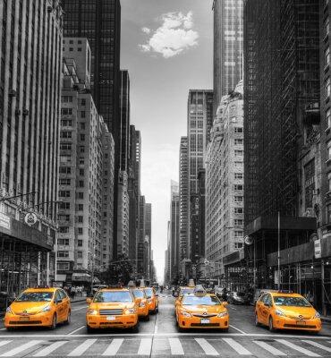Sticker Avenue avec des Taxis à New York.