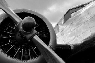 Sticker Avion ein hélice