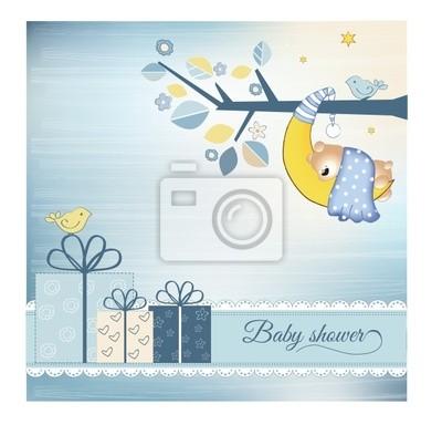 Baby-Dusche-Ankündigung