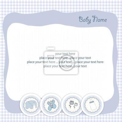 Baby-Mitteilungs-Karte