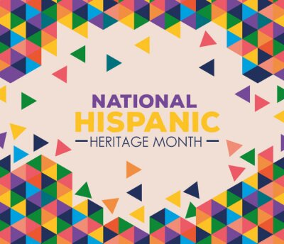 Sticker background, hispanic and latino americans culture, national hispanic heritage month in september and october vector illustration design