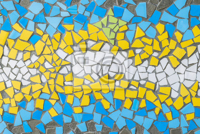 Sticker Background of color mosaic