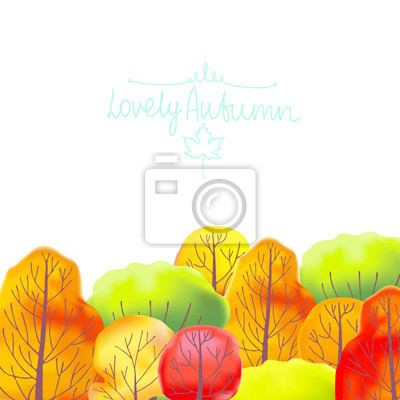 Background with autumn trees