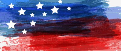 Sticker Background with USA painted flag