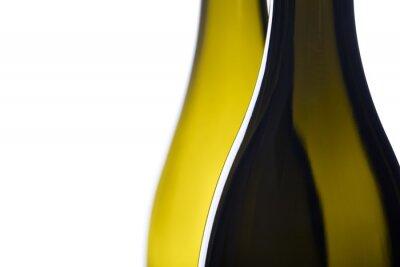 Backlit Weinflaschen