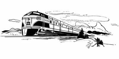 Sticker Bahnreisen
