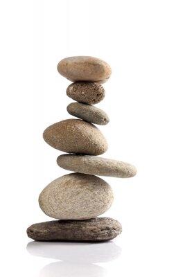 Sticker Balanced Stapel von verschiedenen Flusssteinen