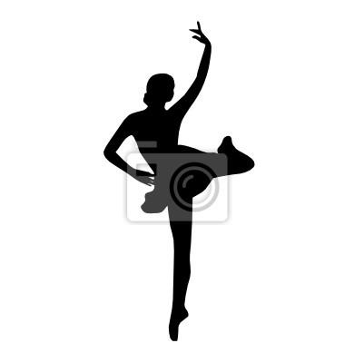 Ballett-Tänzer, Vektor-Illustration, schwarz und weiß