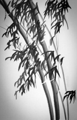 Sticker Bambus-Bäume