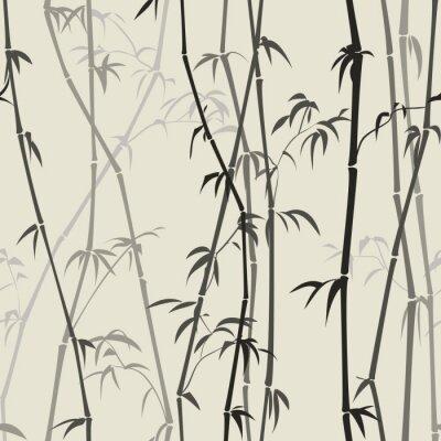Sticker Bambus-Hintergrund