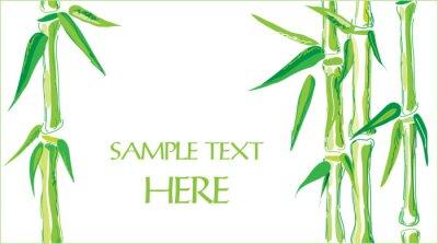 Sticker Bambus Vektor Hintergrund