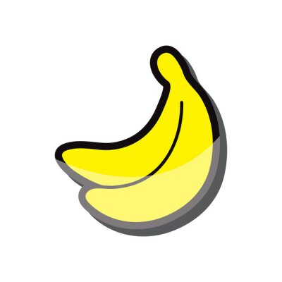 Sticker Bananen-symbol vektor-illustration eps 10