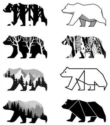 Sticker Bären gesetzt