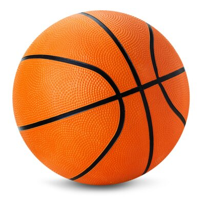 Sticker basketball ball isolated on the white background