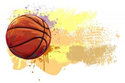 Sticker Basketball Banner. Alle Elemente sind in separaten Ebenen und gruppierte.