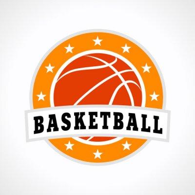 Sticker Basketball emblem logo