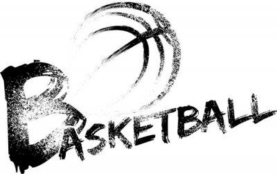 Sticker Basketball Grunge Streifen