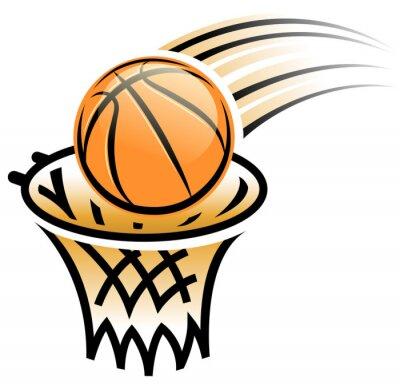 Sticker basketball hoop symbol