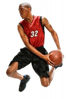 Sticker Basketball-Spieler Dunking-Ball