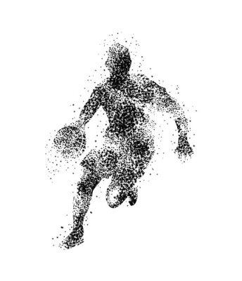 Sticker Basketballspieler, Silhouette