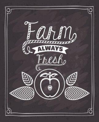 Sticker Bauernhof frische Lebensmittel Design