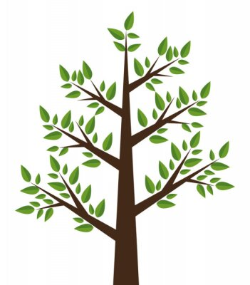 Sticker Baum Pflanzen-Design