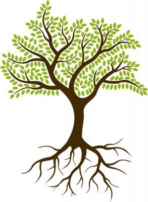Sticker Baum-Silhouette